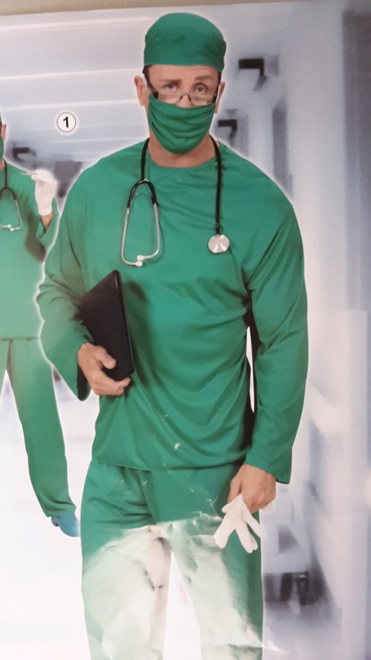 vestito carnevale uomo medico chirurgo