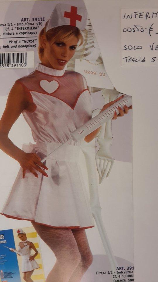 costume carnevale infermiera seducente