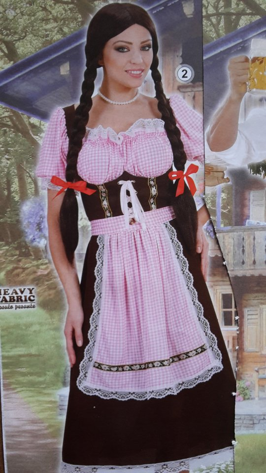 vestito carnevale donna con le treccie
