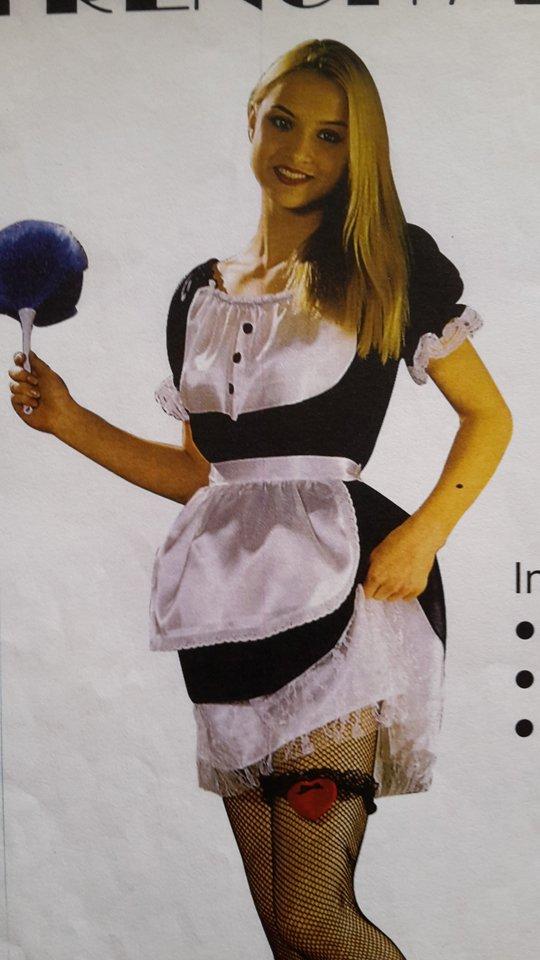 vestito carnevale donna cameriera