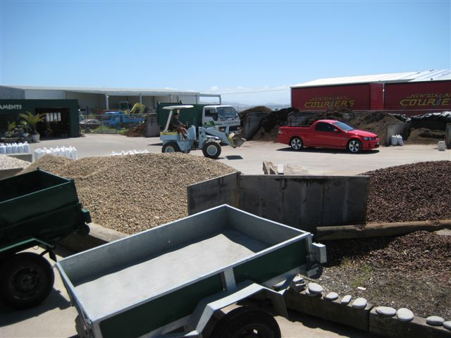 Trailers and mulch