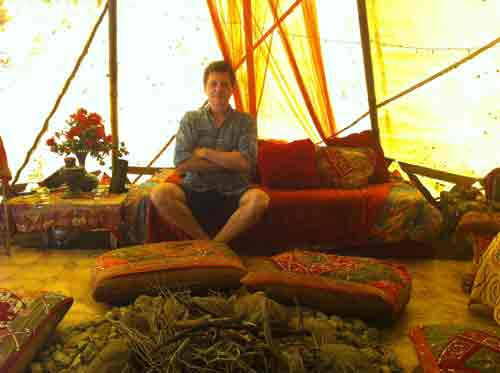 Interior view of the tent