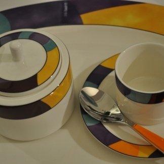 servizio caffè colorato