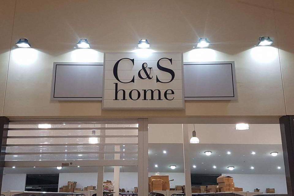 c & s home store sign