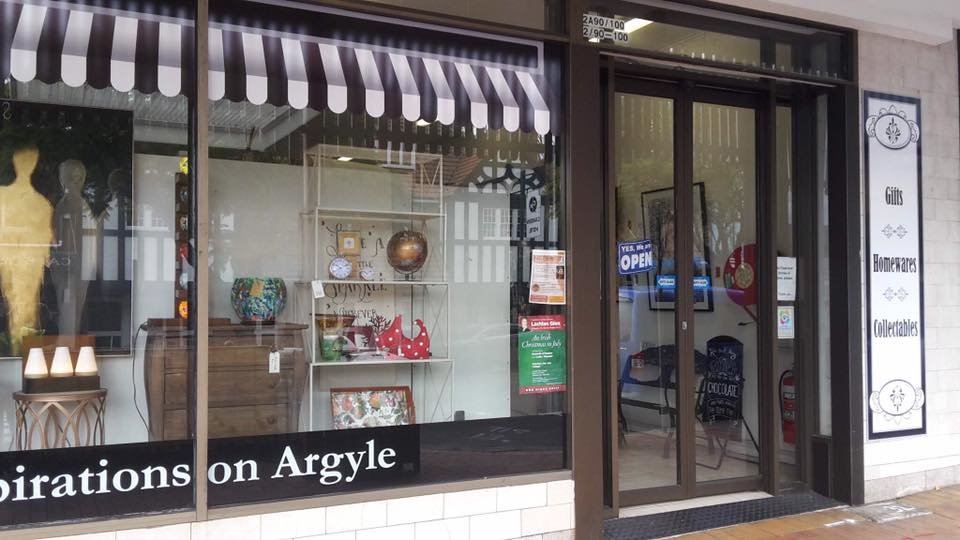 inspirations on argyle store front sign