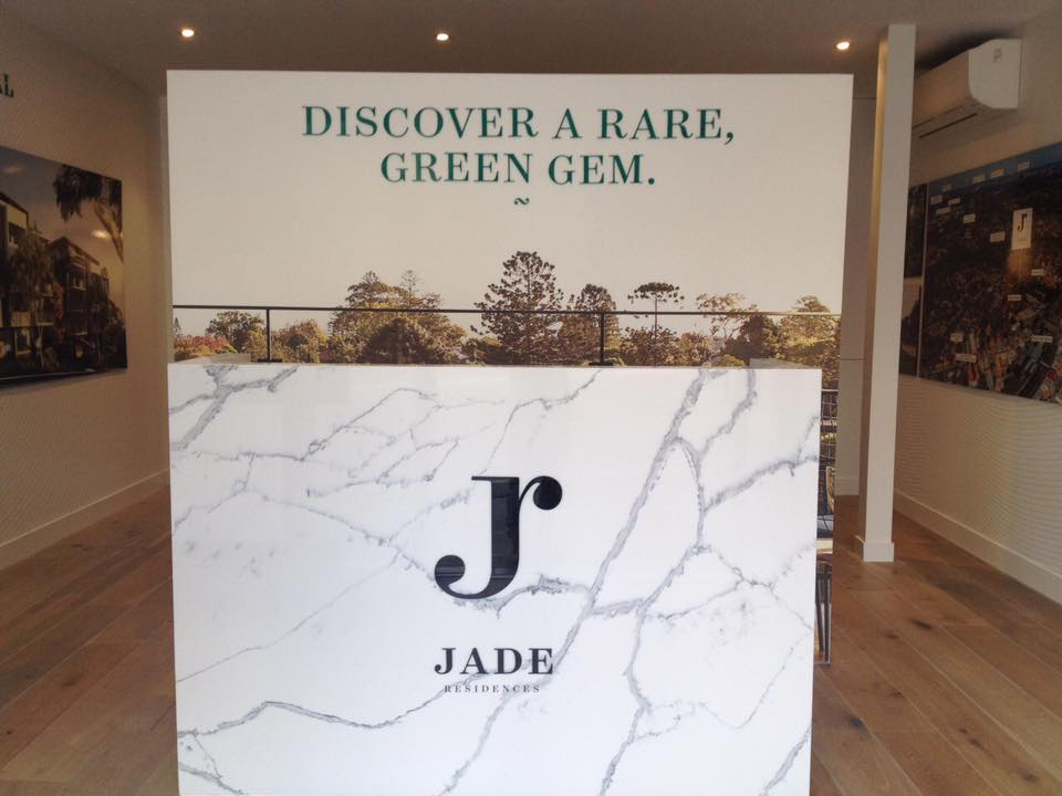 jade sign on front desk