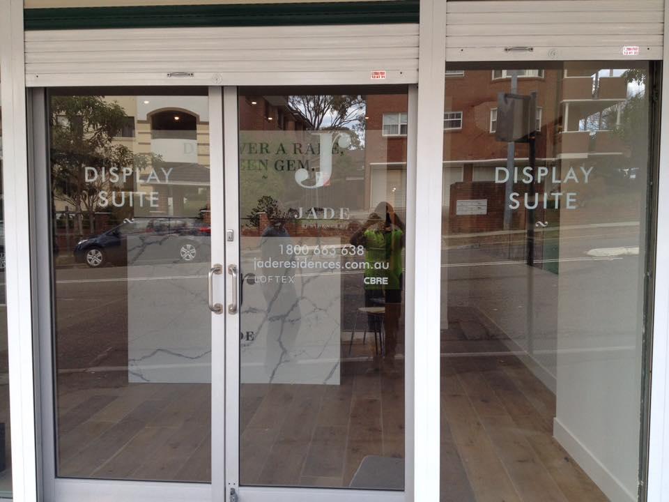 jade logo on shop front door