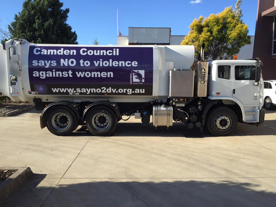 camden council sign on truck