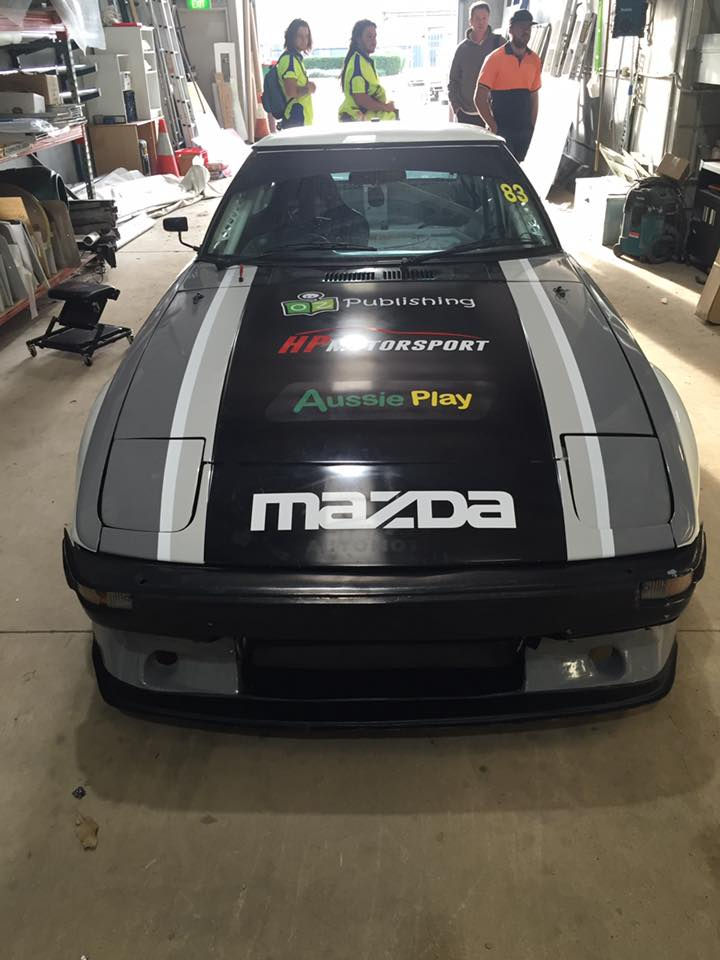 front hood of race car