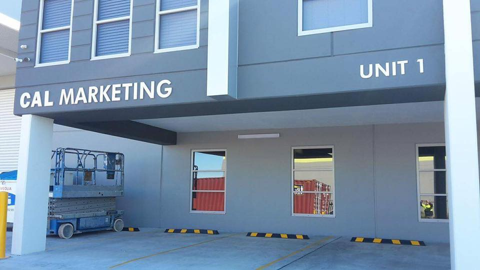 cal marketing builing sign