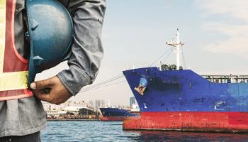 operaio, nave, porto