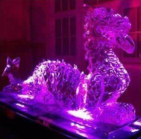ice dragon sculpture