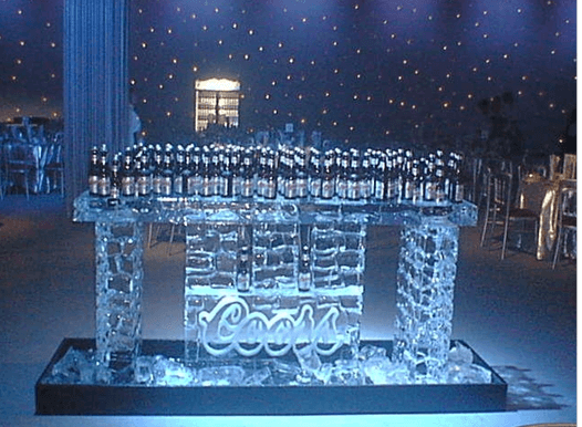 Coors custom carved ice bar