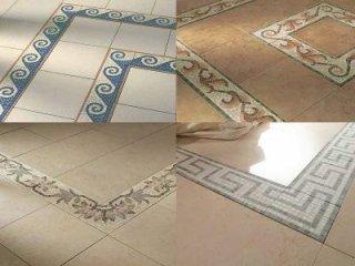 pavimentazioni, mosaici, pavimento in mosaico