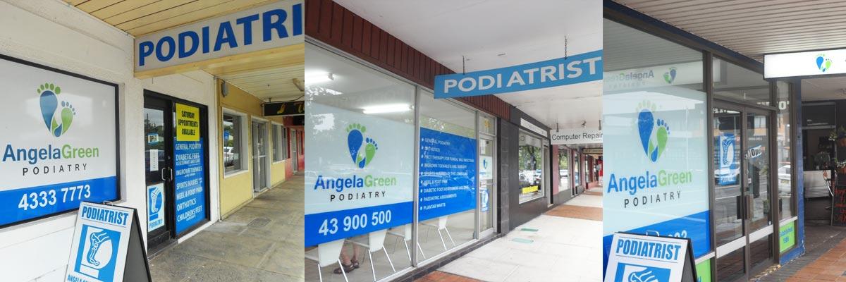 angela green podiatry three clinic entrance
