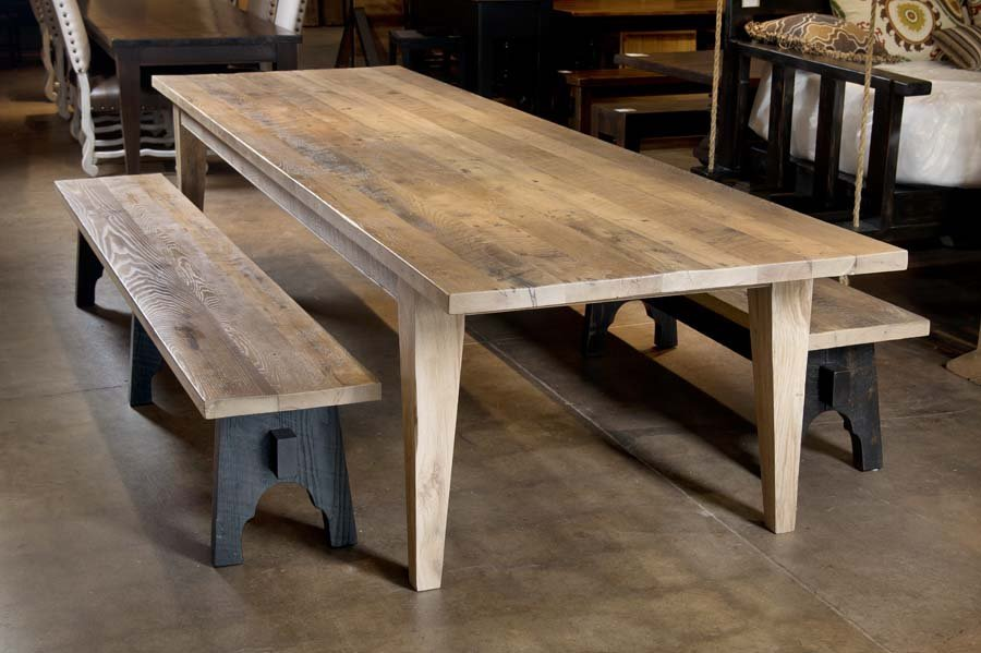 Reclaimed wood dining table Nashville