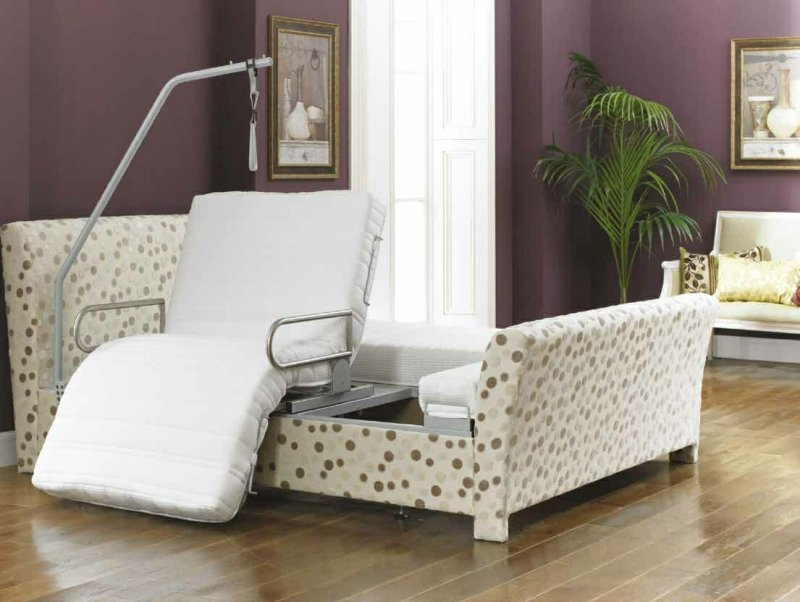 Viscount rotating chair bed.