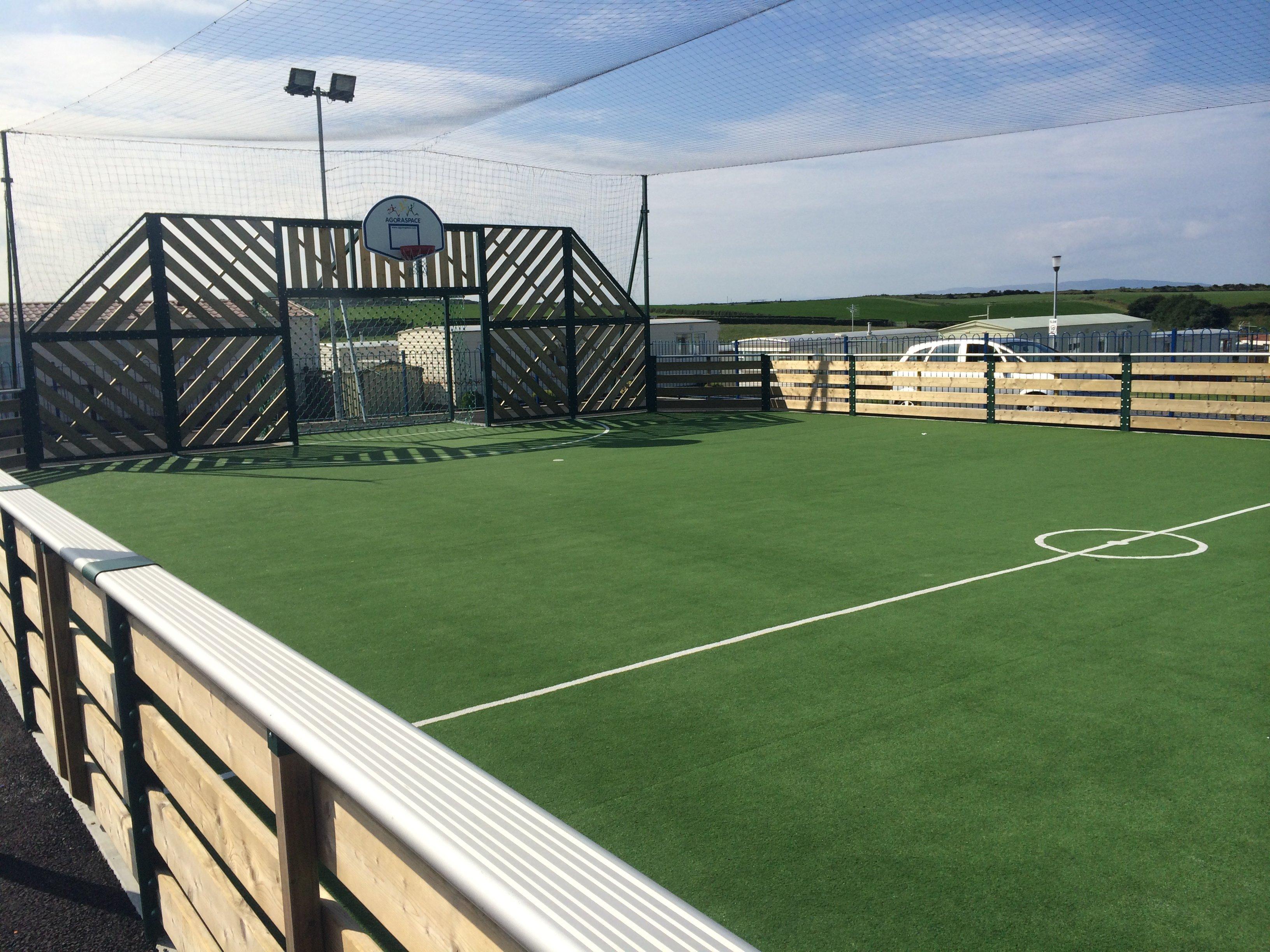A green sports court
