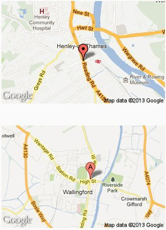 Custom printing - Wallingford, Oxfordshire - Higgs Printing - location map