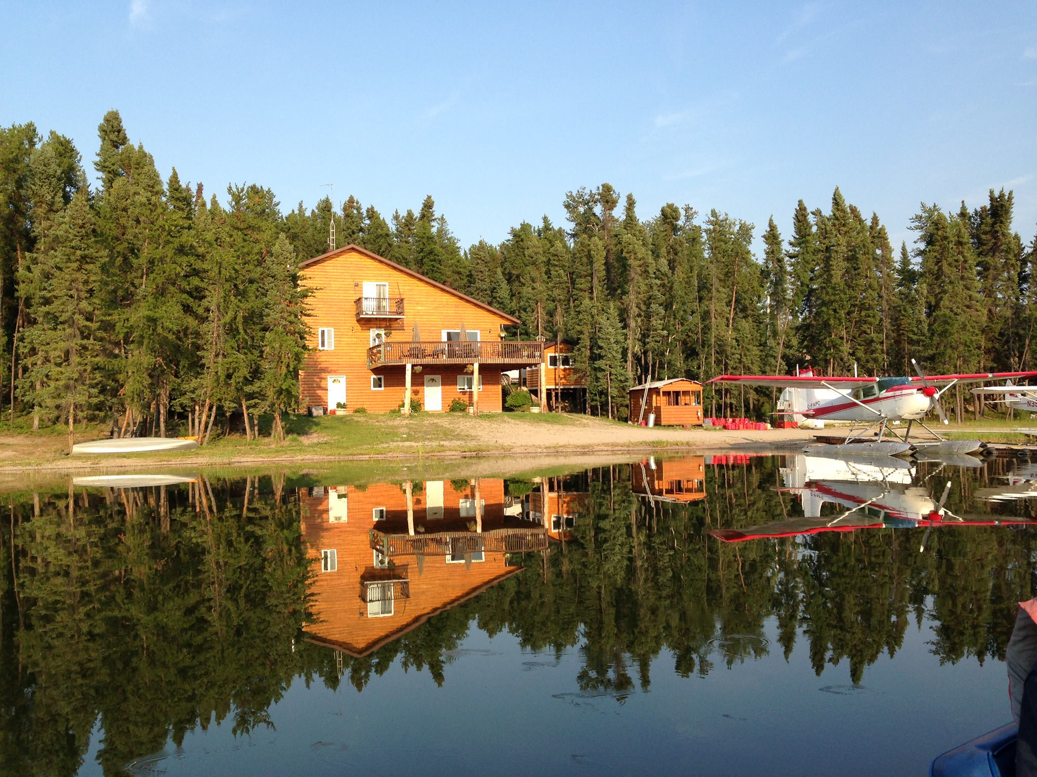 In the main base camp we have nine cabins which can accommodate parties of 4-12 people. We also have tons of options for Fly-in or Boat-in camps. Click for more information.