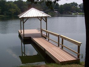Flat dock constructed by expert in Alabama