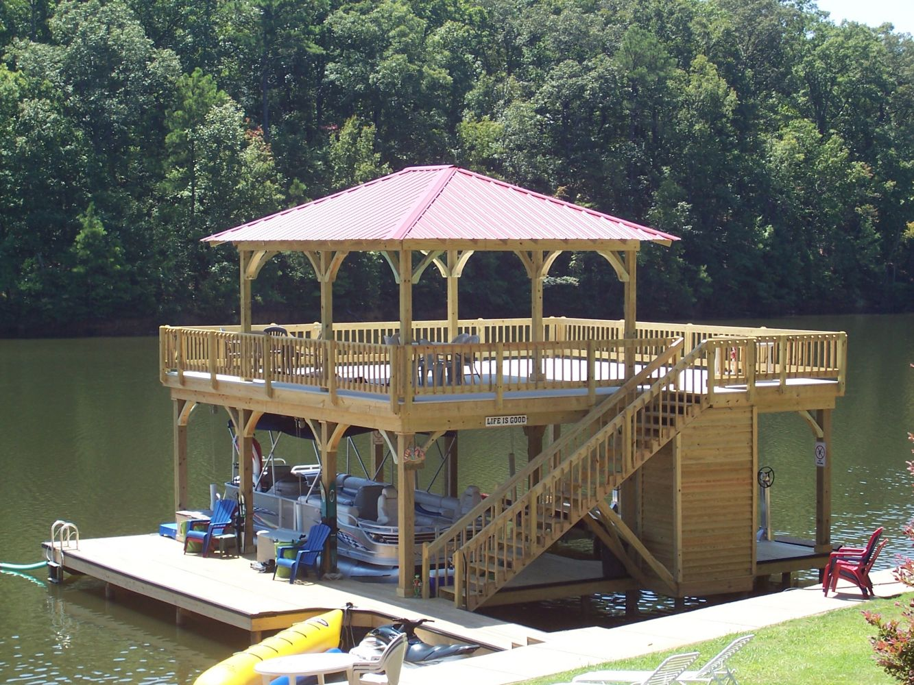 View of a newly constructed upper deck in Alabama