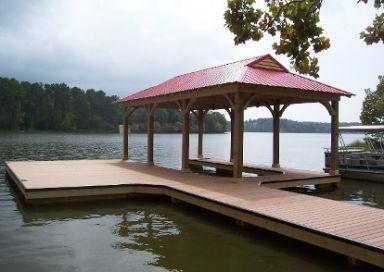 Constructed single slip docks in Alabama