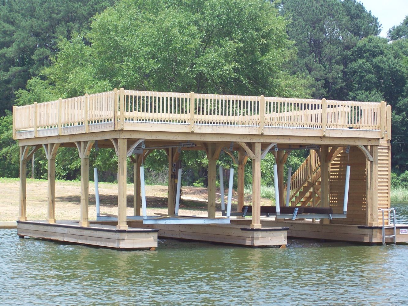 Newly constructed upper deck in Alabama