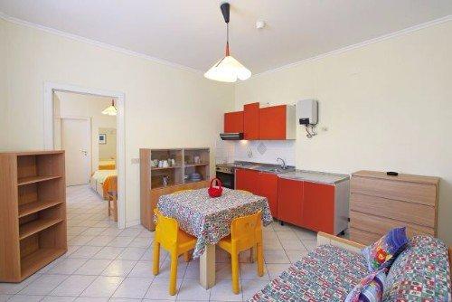 Sala da pranzo,cucina e salotto