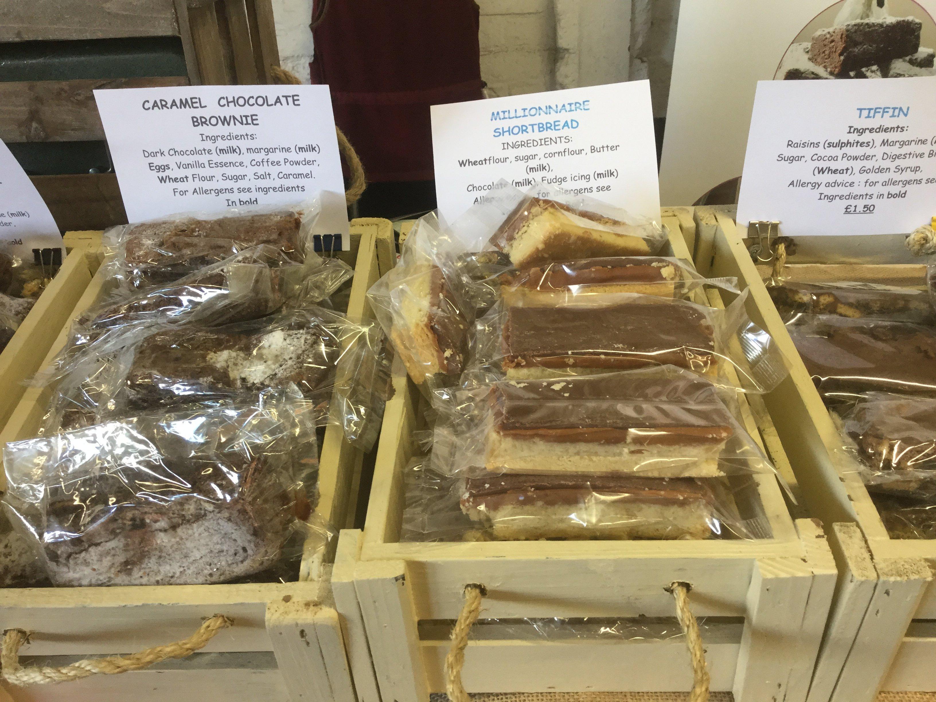 packaged cookies and brownies