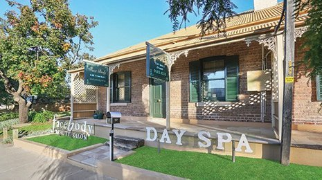 face body day spa and beauty salon entrance of spa