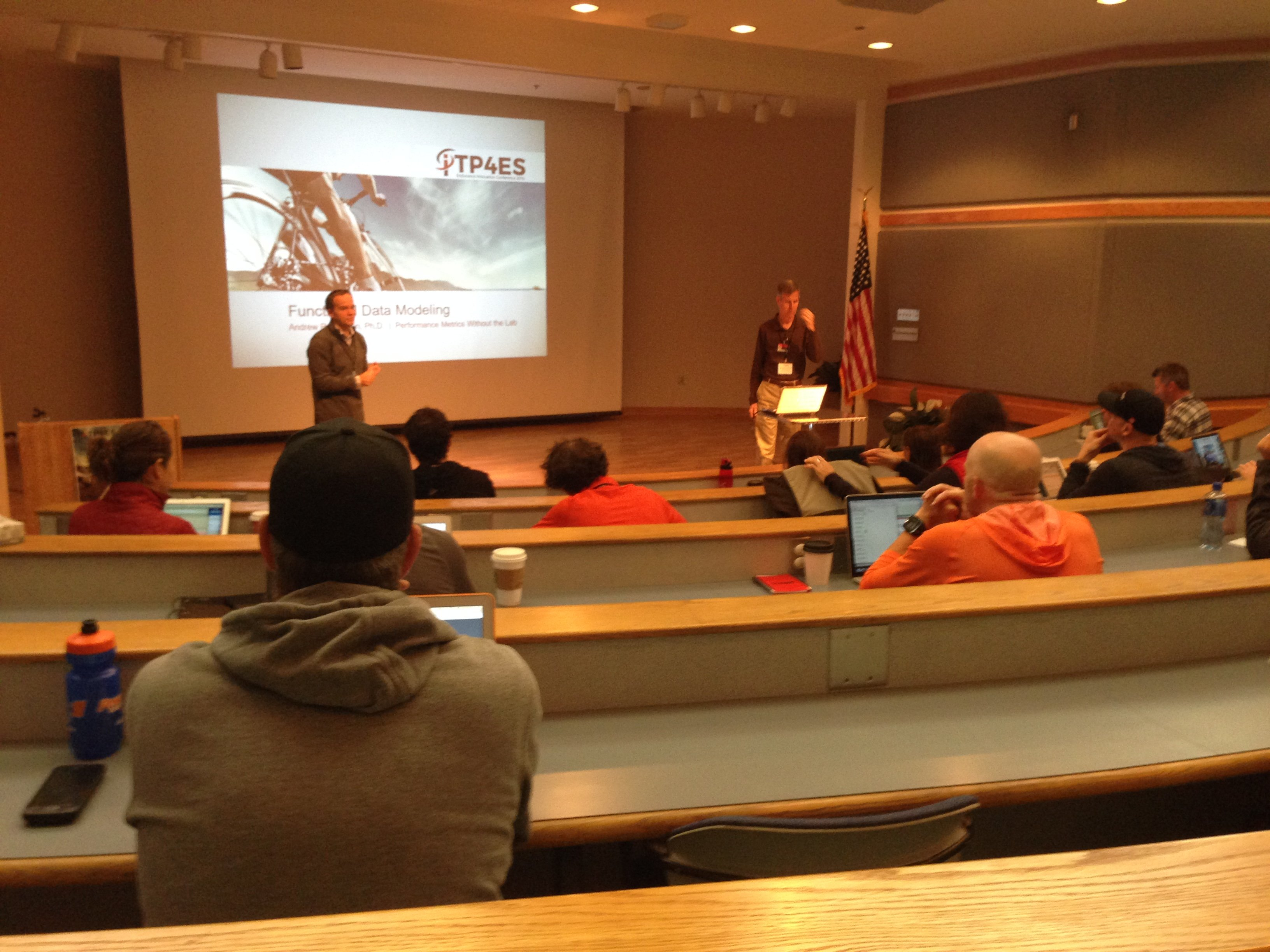 Tim Cusick and Andy Coggan speaking at the 2016 ITP4ES conference