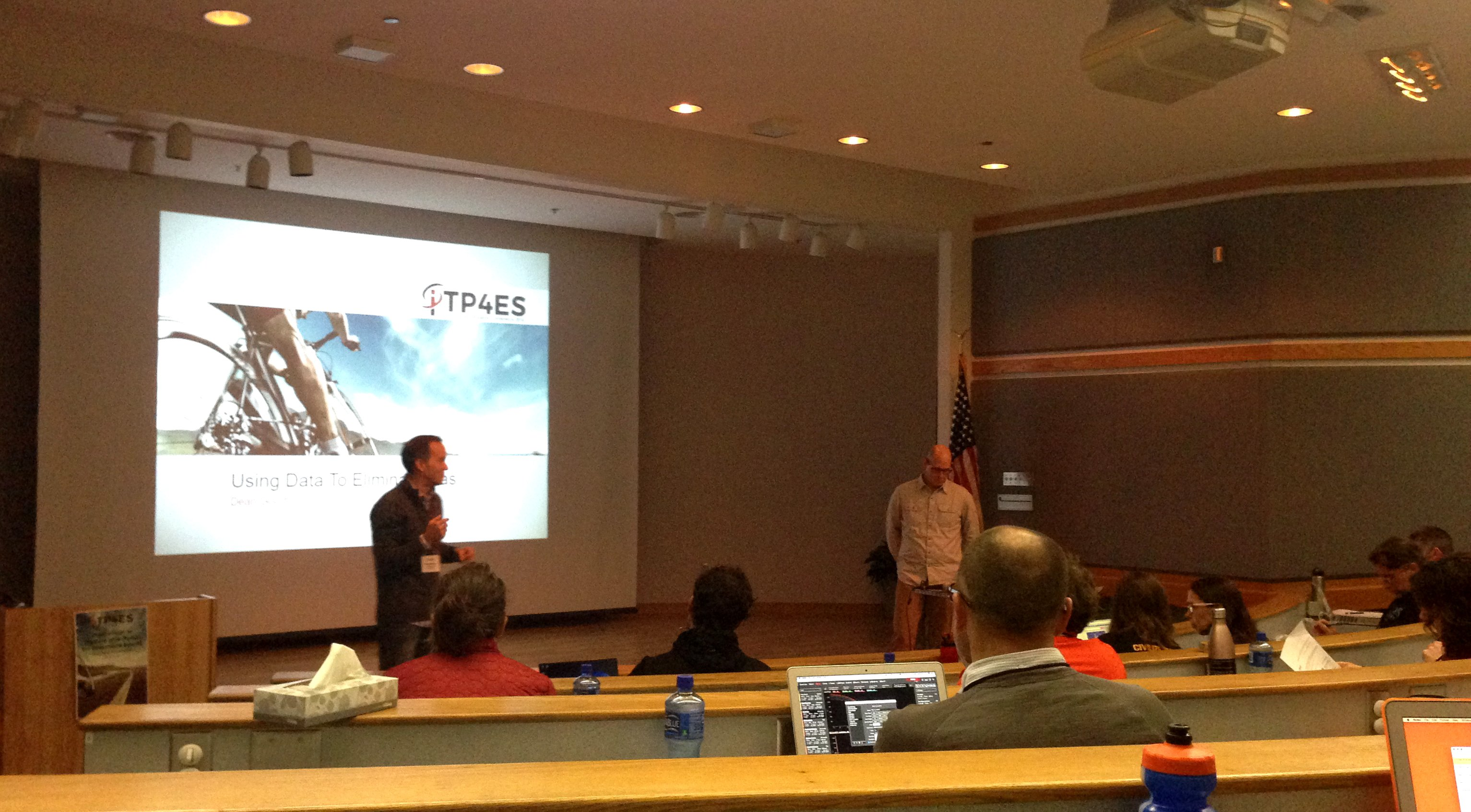 Tim Cusick and Dean Golich speaking at the 2016 ITP4ES conference