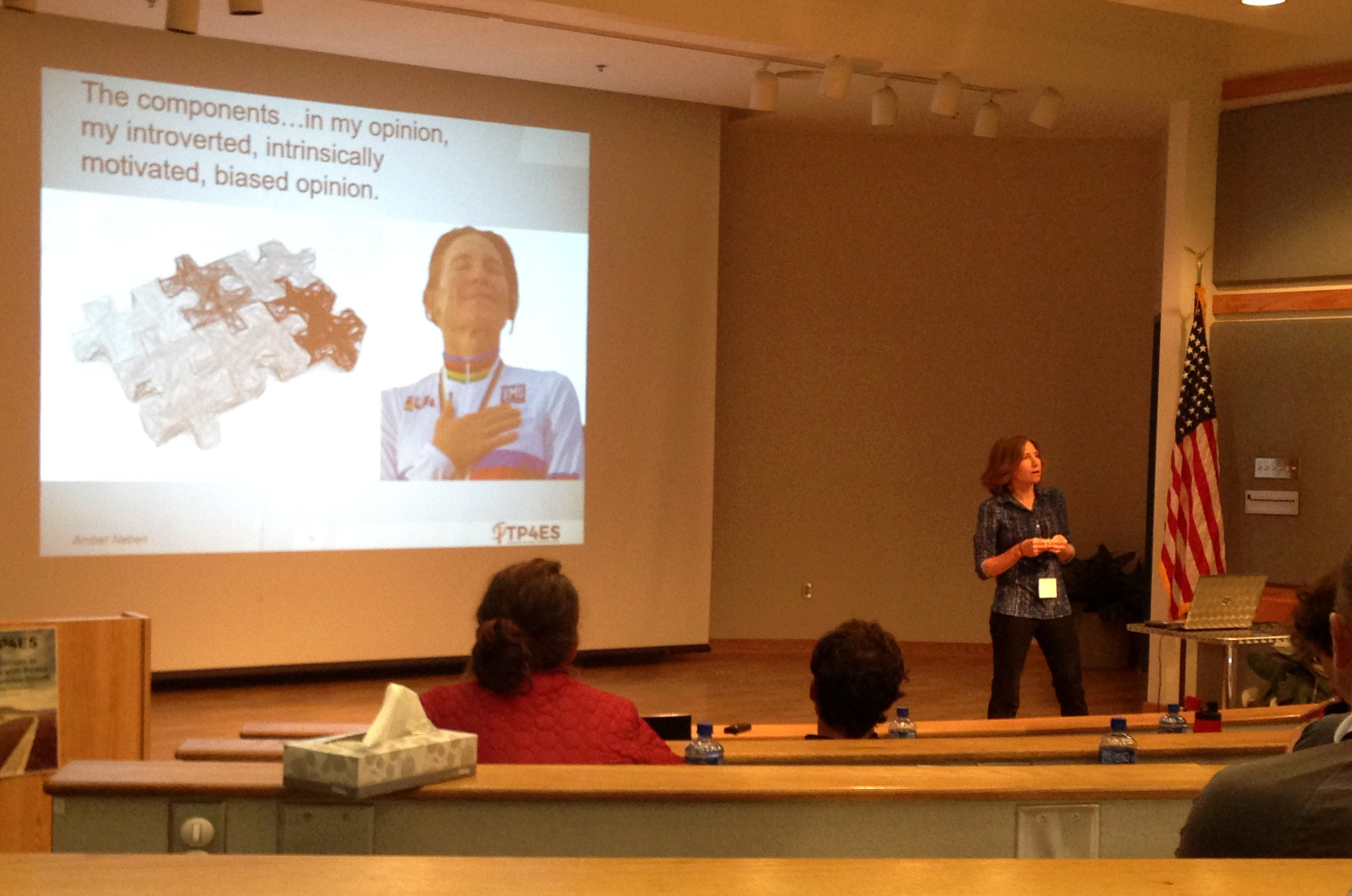 Amber Neben speaking at the 2016 ITP4ES conference