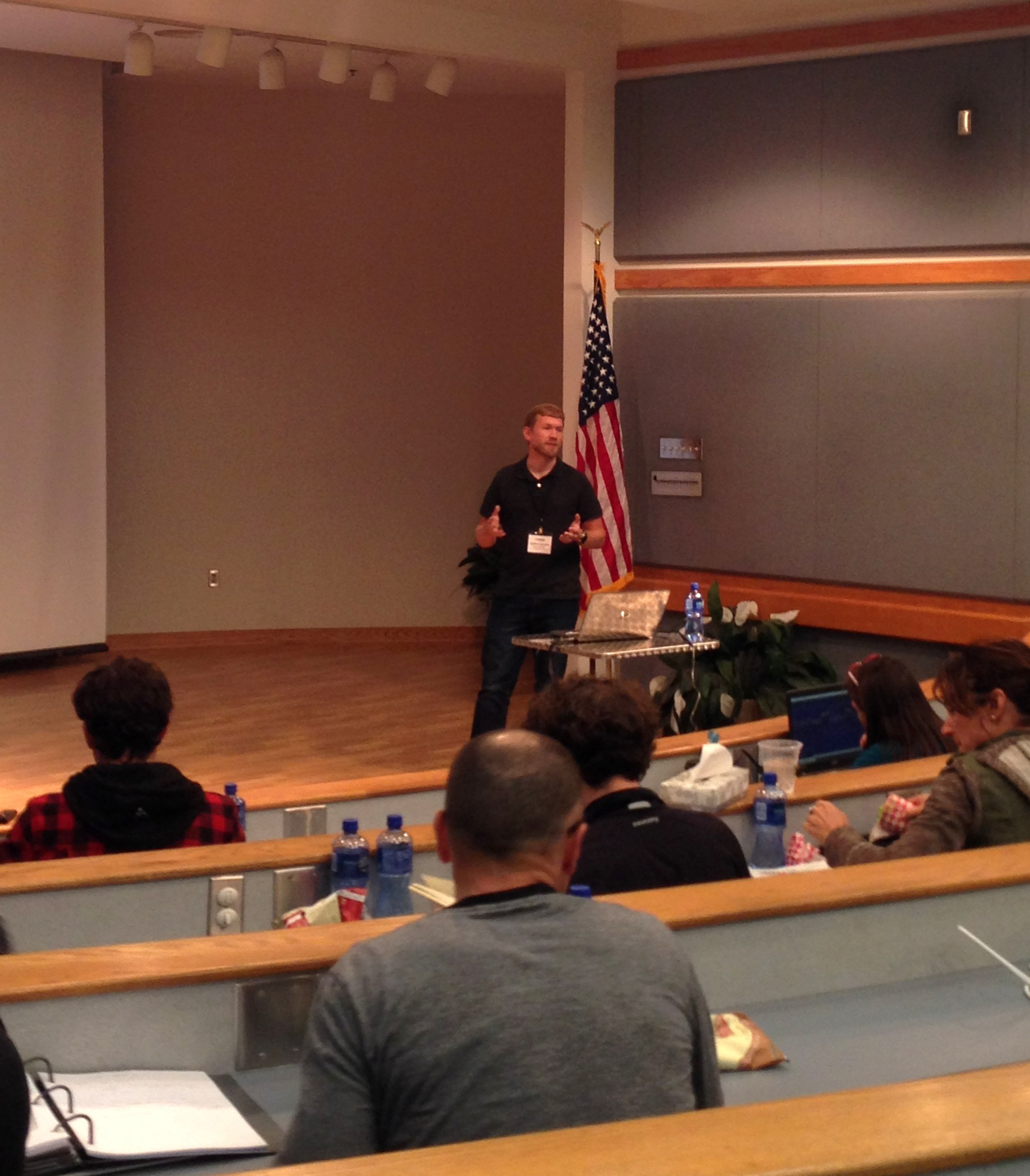 Kenny Carlson speaking at the 2016 ITP4ES conference
