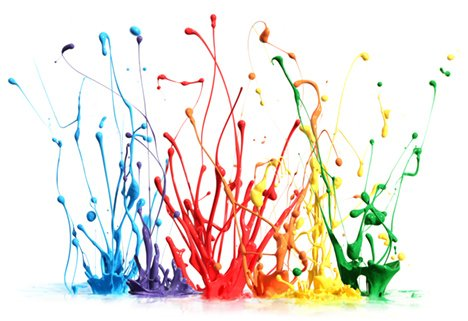 paint splash rainbow