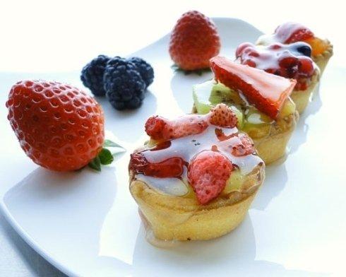 pasticcini con frutta