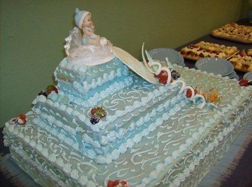 torta gigante per battesimo