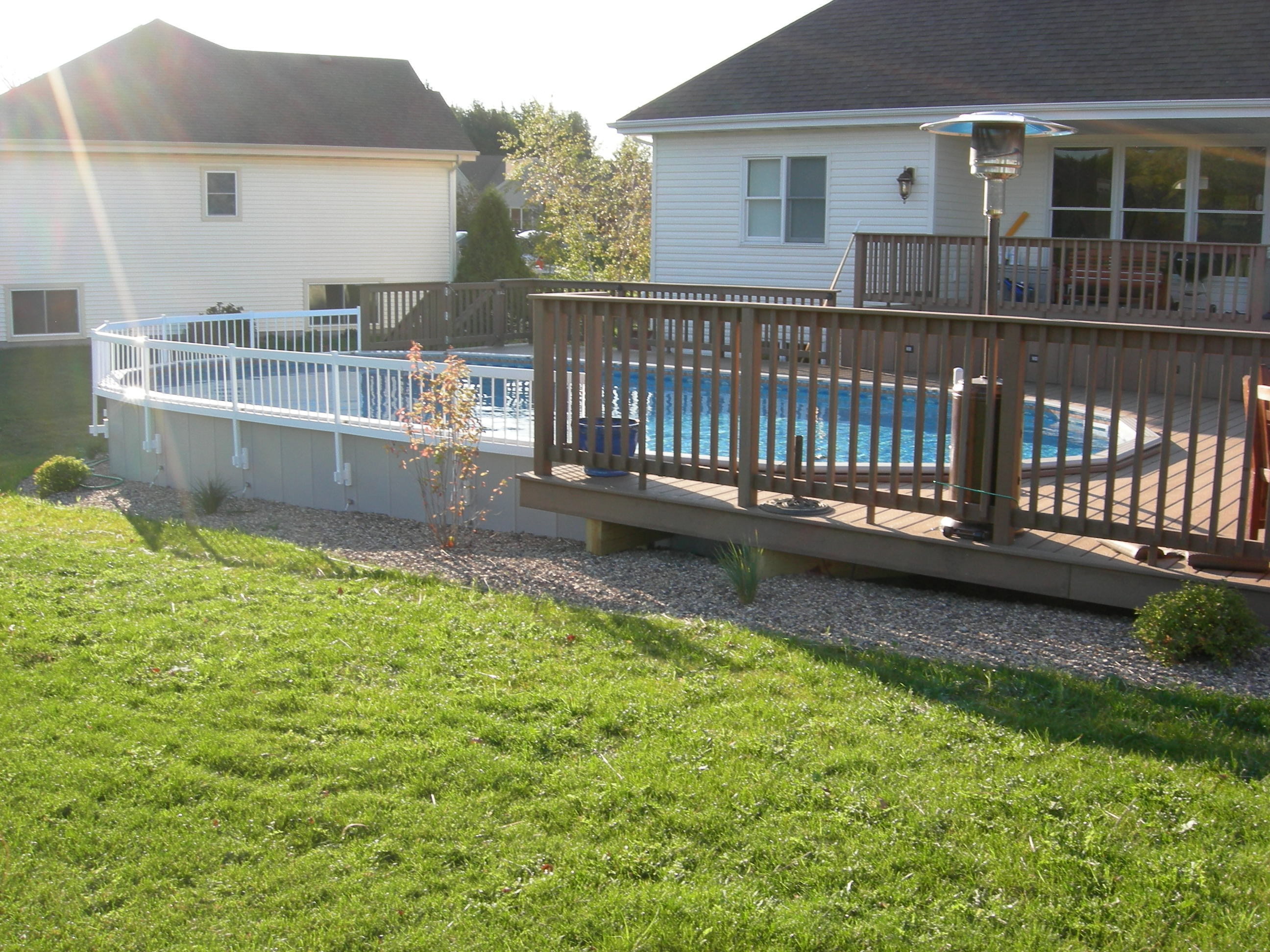 inground pool deck