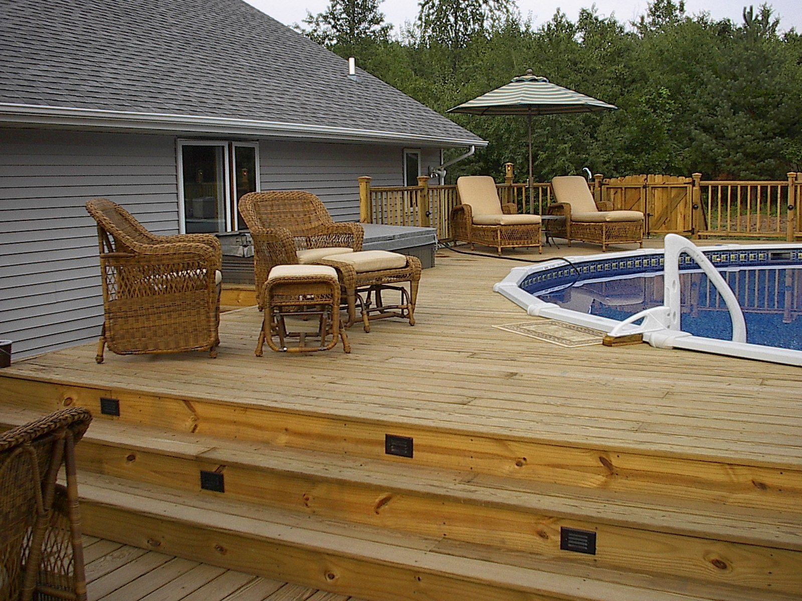 deck and inground pool