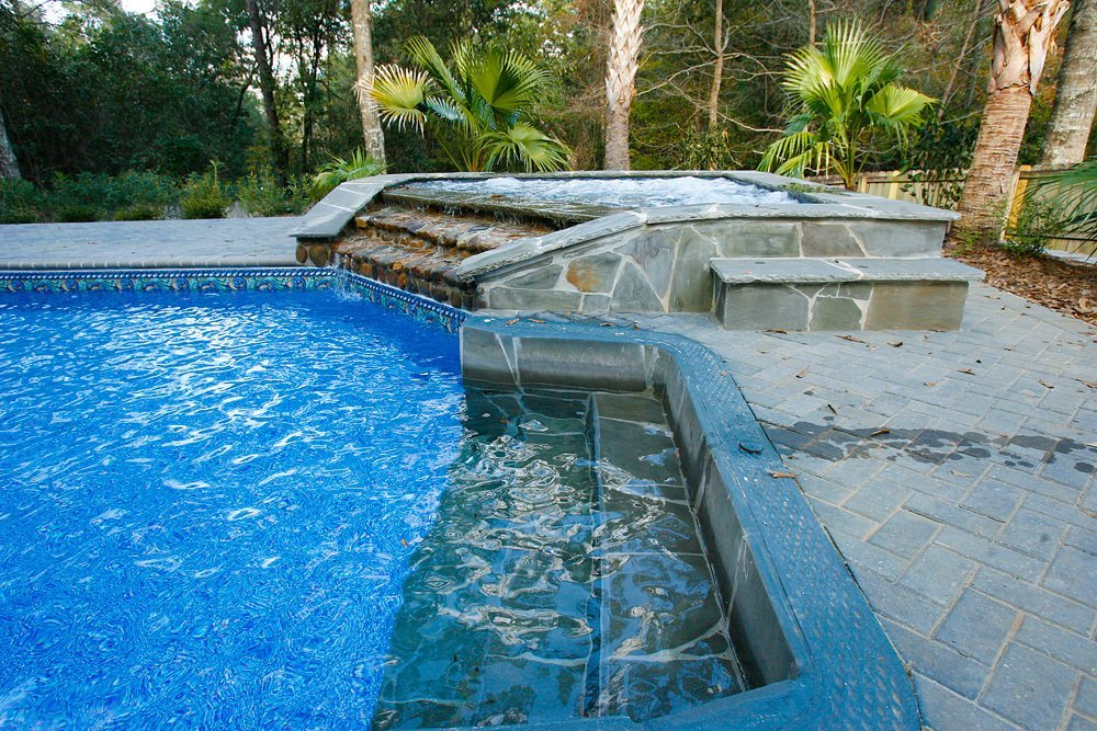 Vinyl liners tuscany for Inground swimming pool liners