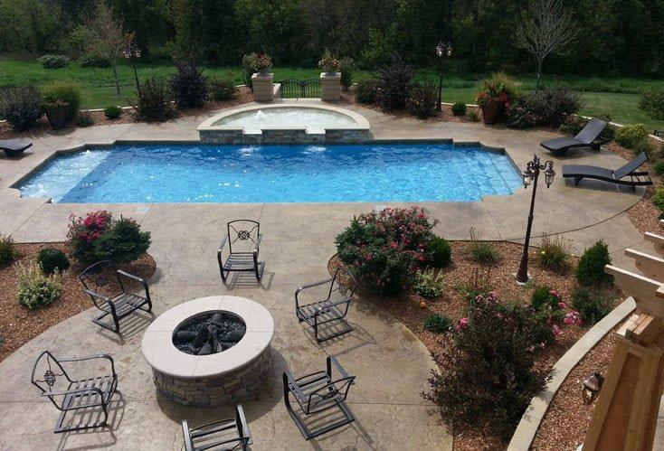 outdoor inground swimming pool