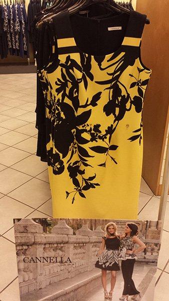 abito da donna giallo e nero