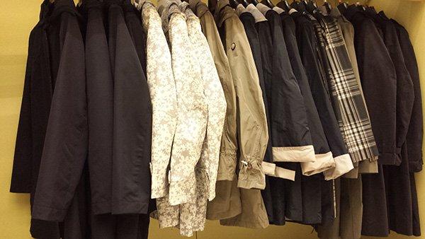 giacche esposte