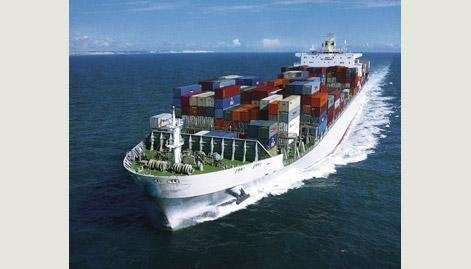 Maritime shipping of goods through customs