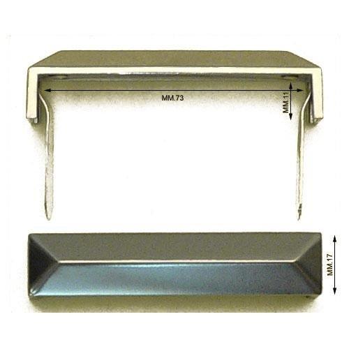 3M27264 - Passante in zama mm.73 con alette