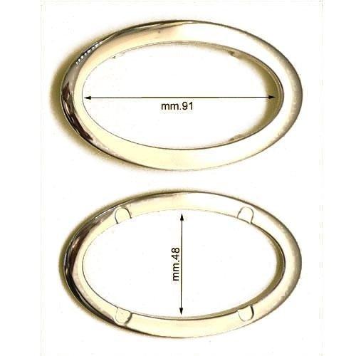 3M26227 - Maniglia ovale in ferro con 4 alette