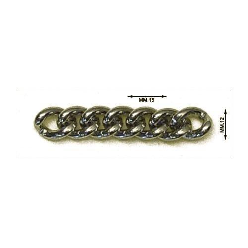 3M27202 - Catena in alluminio. Dimensione esterna della maglia mm.15x12