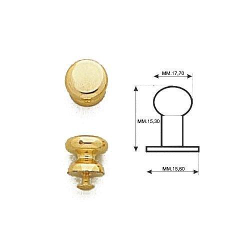 3M8485 - Gemello in ottone con vite in ferro mm.3x7
