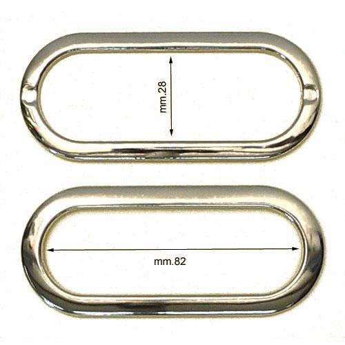 3M26018 - Maniglia ovale in ferro con 2 alette